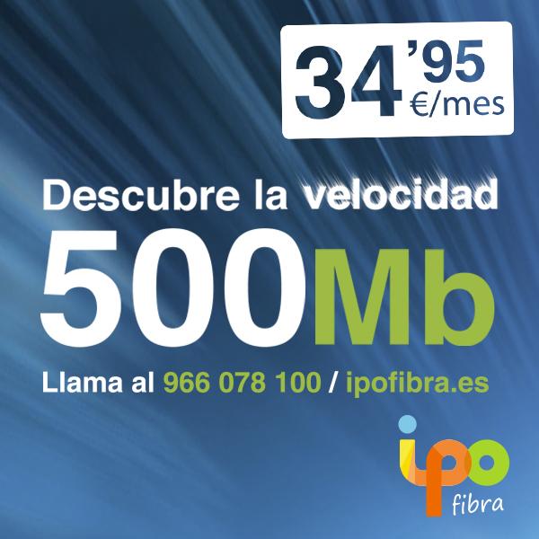 Tarifa 500MB de fibra de Ipo