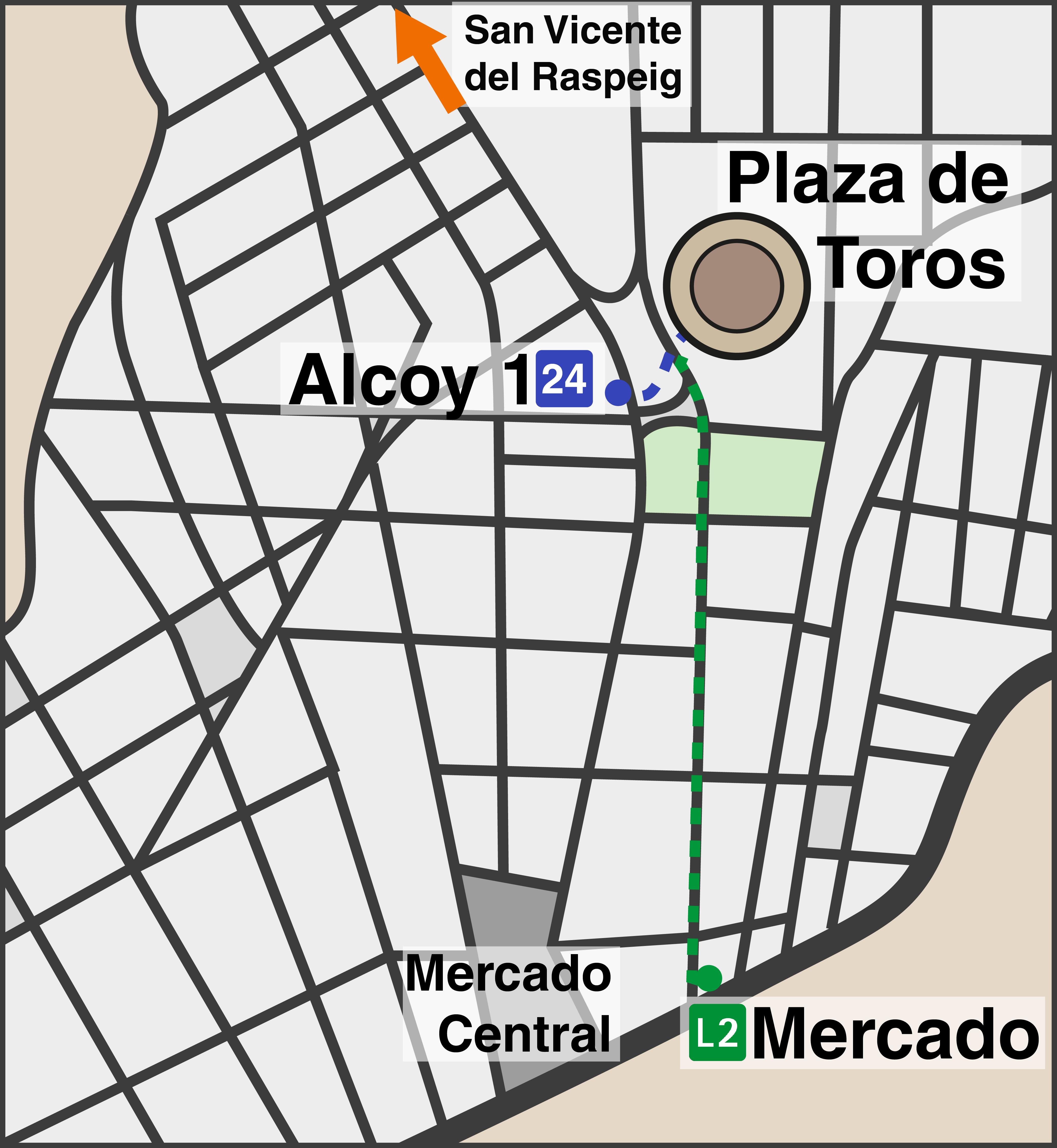 mapa de como llegar al concierto de la bienvenida universitaria