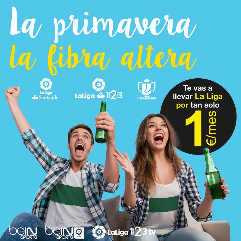 Solo hasta el 15 de abril llévate todo el fútbol por 1€/mes hasta septiembre. ¡La primavera la fibra altera! | ipo networks