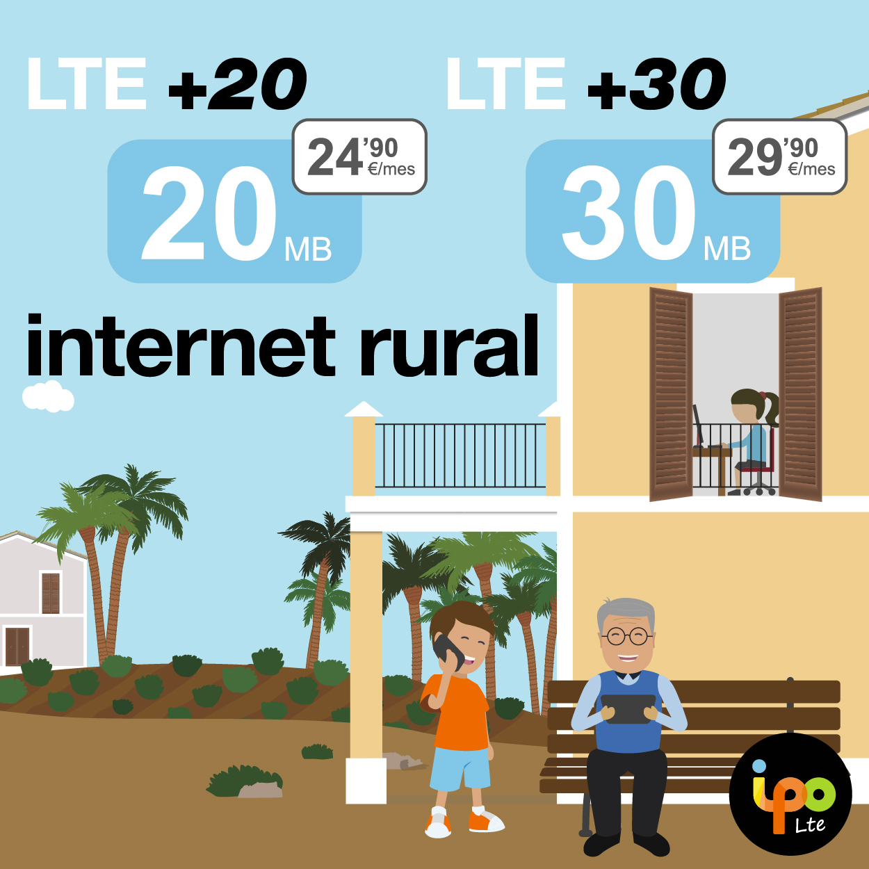 ipo lte - Tarifas de internet rural 4G sin cables