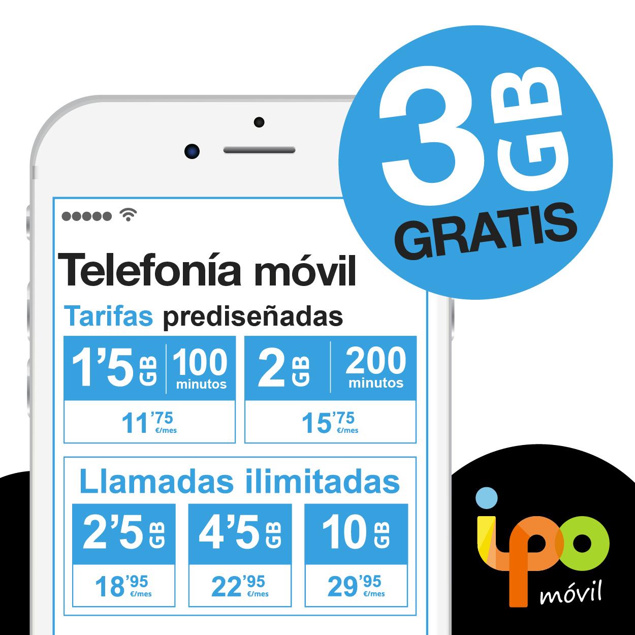 Nuevas tarifas ipo networks - tarifas prediseñadas