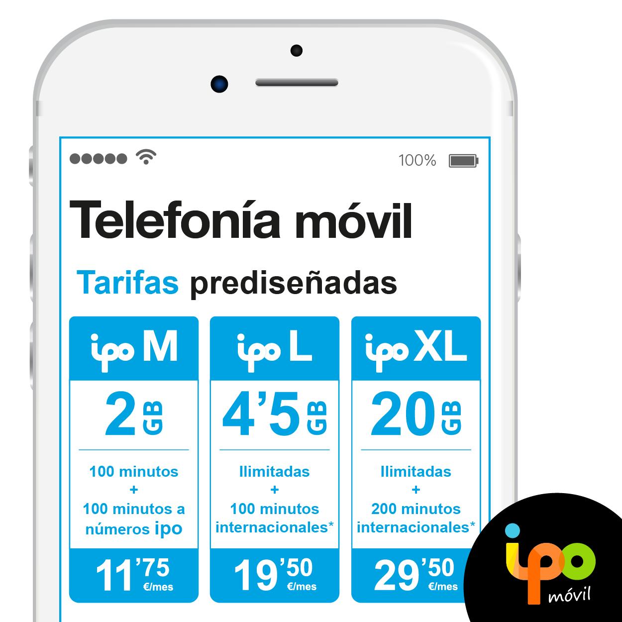 nuevas tarifas de ipo móvil
